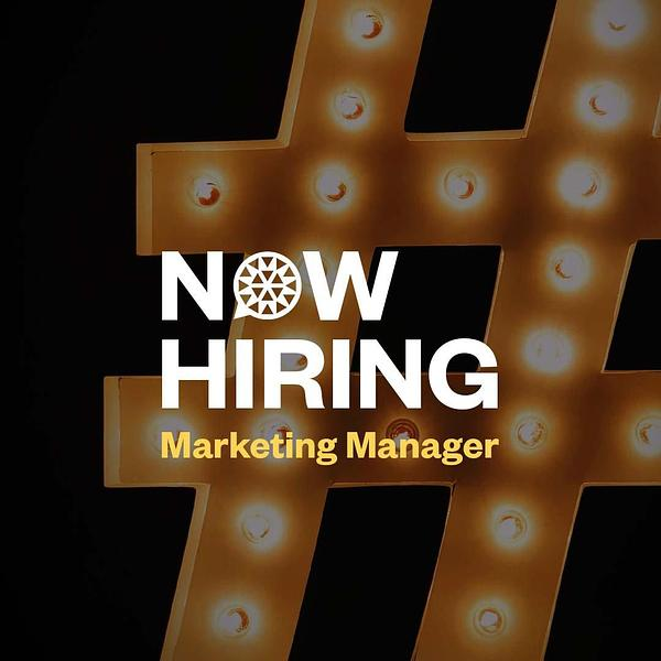 Now hiring: Marketing Manager